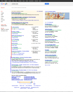 Google Local taking up page 1