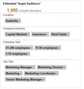 LinkedIn Ads Estimated Audience Box Image