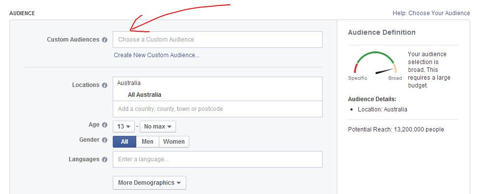 Facebook Remarketing Custom Audiences